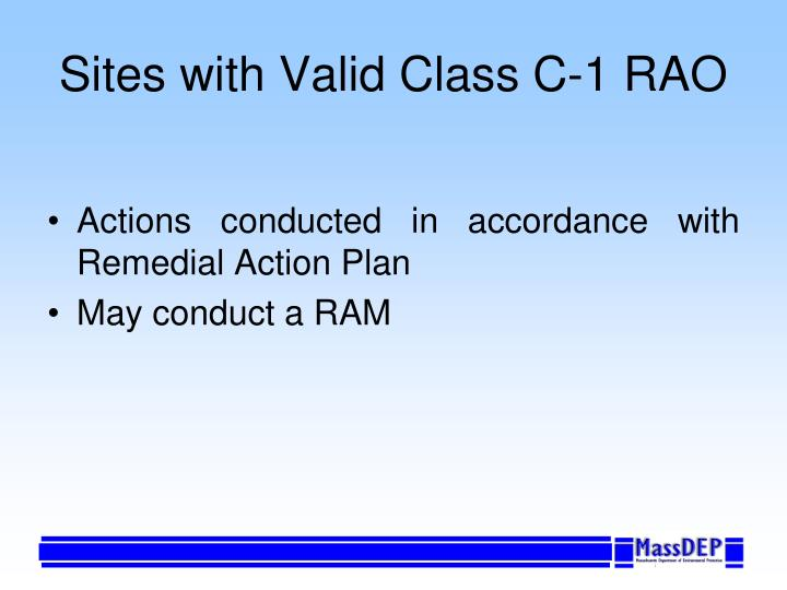 Sites with Valid Class C-1 RAO