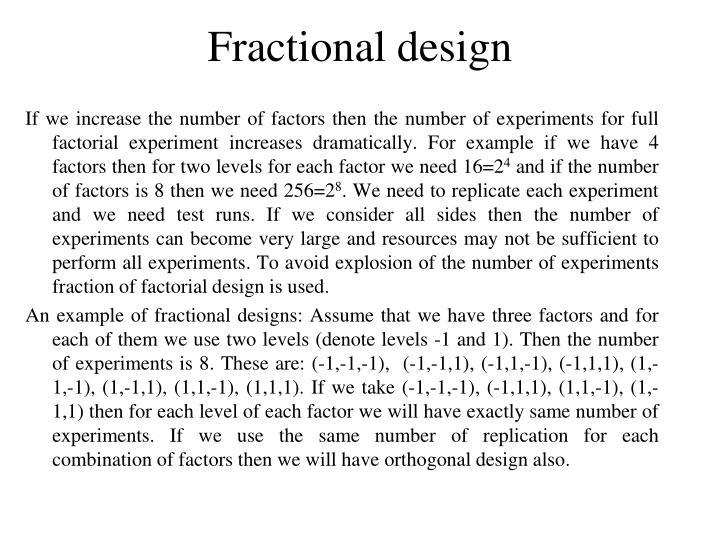 Fractional design