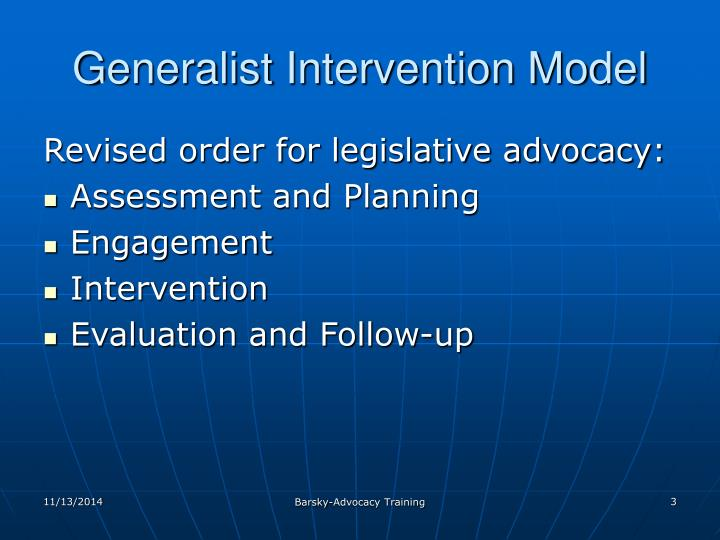 generalist intervention model How can the answer be improved.