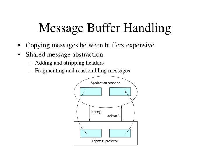 Message Buffer Handling