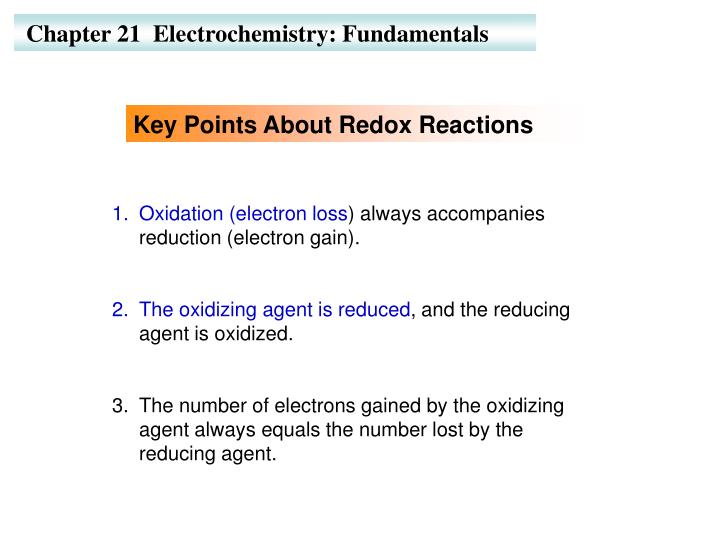 PPT - Chapter 21 Electrochemistry: Fundamentals PowerPoint
