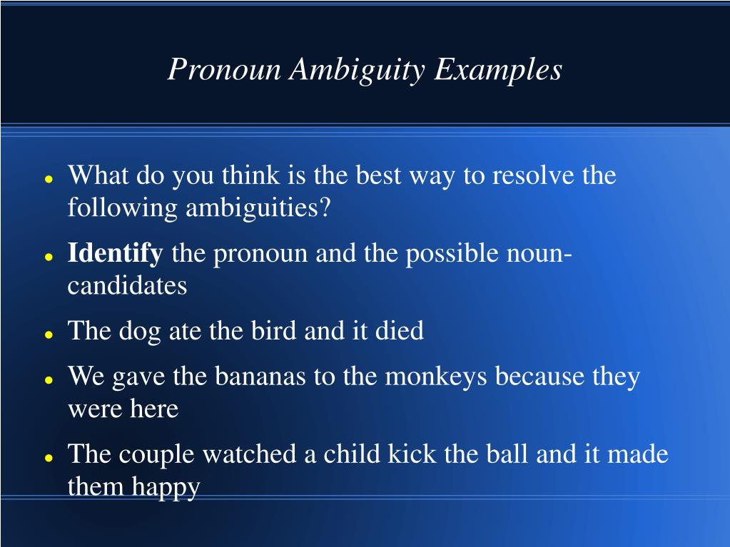 PPT - Ambiguity, Generality, and Definitions PowerPoint ...
