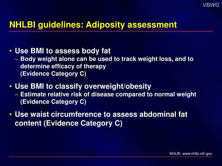 Nhlbi guidelines adiposity assessment