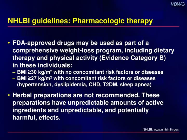 NHLBI guidelines: Pharmacologic therapy