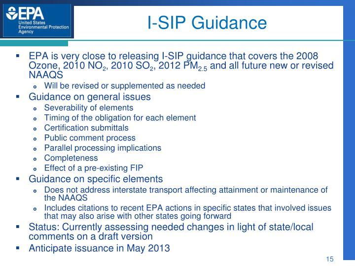 I-SIP Guidance