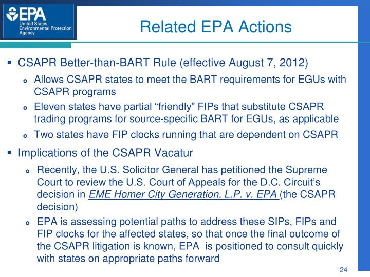 Related EPA Actions