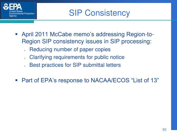 SIP Consistency
