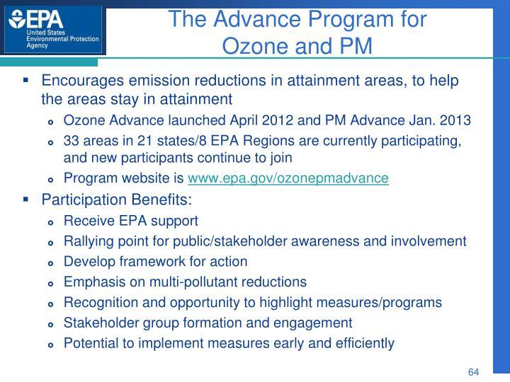The Advance Program for