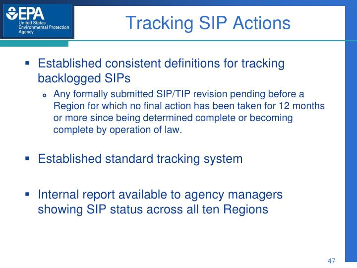 Tracking SIP Actions