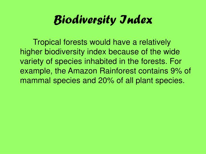 Biodiversity Index