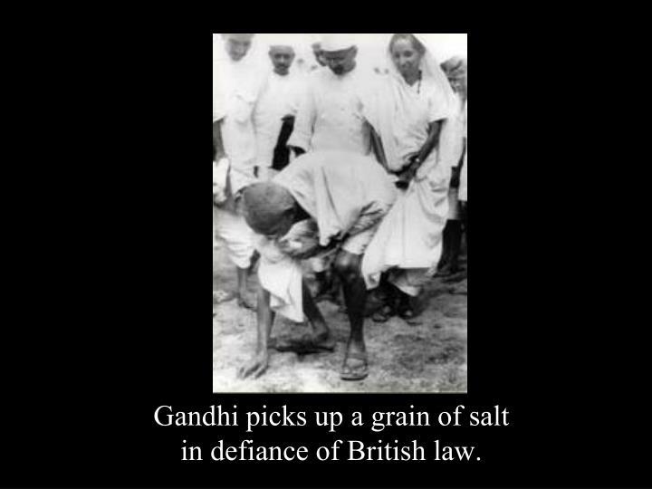 Gandhi picks up a grain of salt