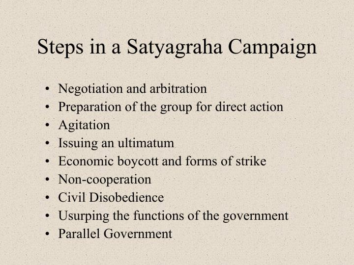 Steps in a Satyagraha Campaign