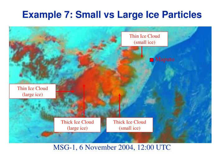 Example 7: Small vs Large Ice Particles