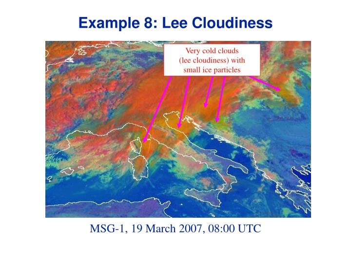 Example 8: Lee Cloudiness