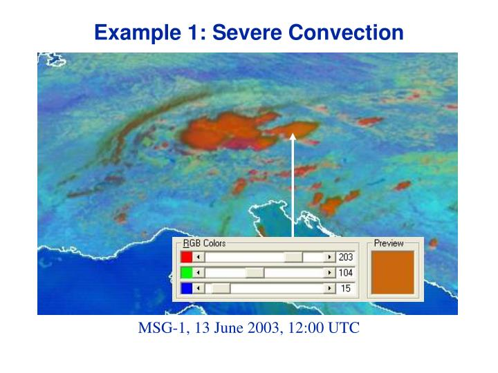 Example 1: Severe Convection