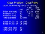 class problem cost flows