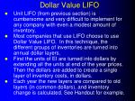 dollar value lifo