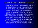 journal entries perpetual system