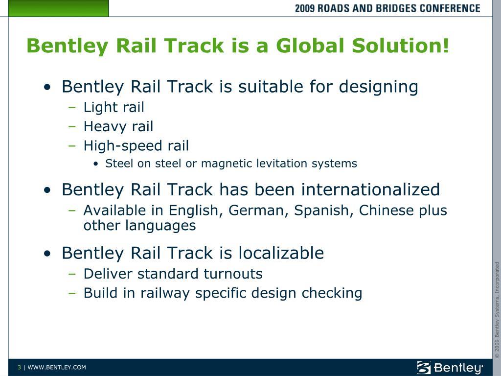 PPT - Bentley Rail Update PowerPoint Presentation - ID:6534860