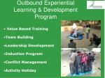 outbound experiential learning development program