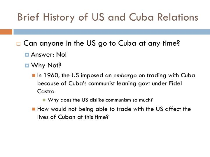 Brief history of us and cuba relations