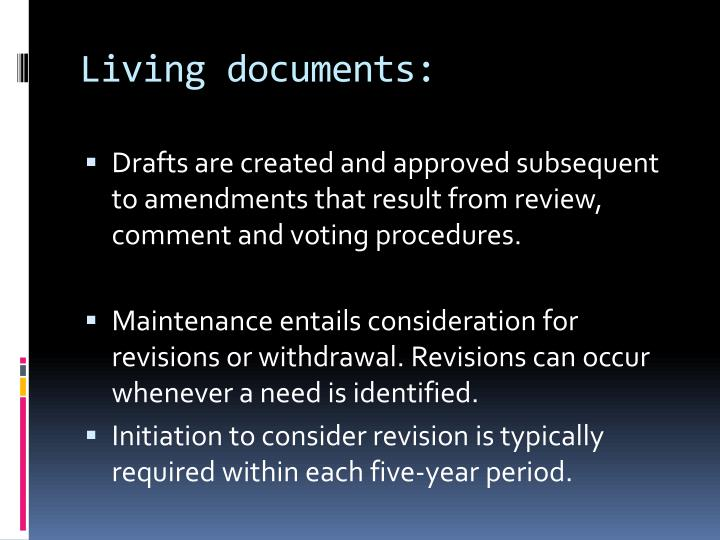 Living documents: