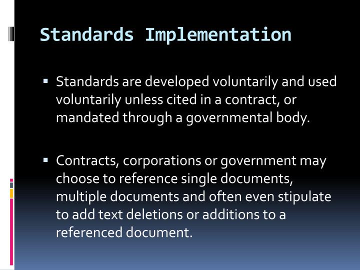 Standards Implementation