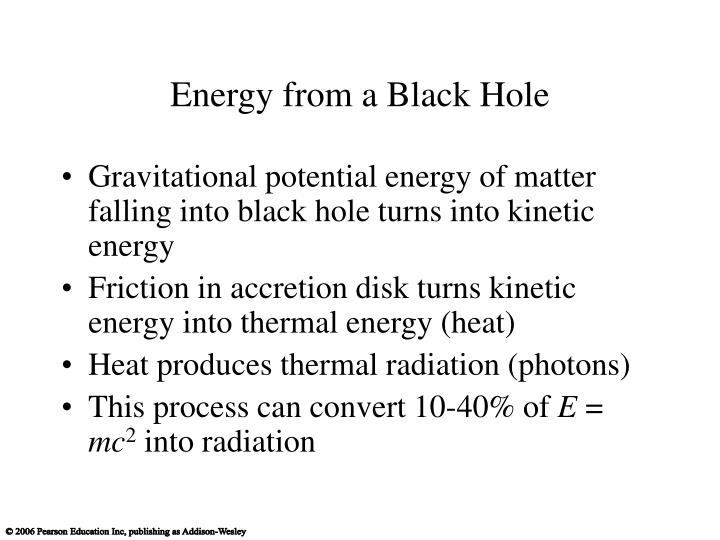 Energy from a Black Hole