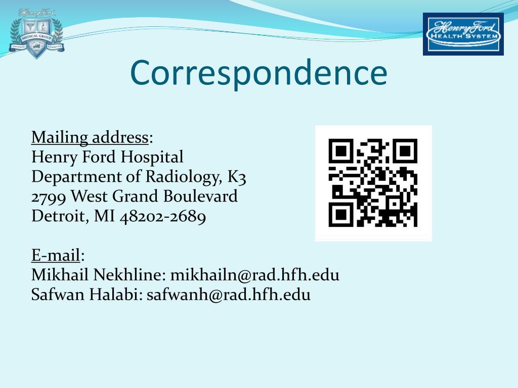 PPT - Mikhail Nekhline, MD Safwan Halabi, MD Henry Ford Health