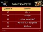 answers to part c
