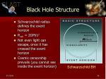 black hole structure
