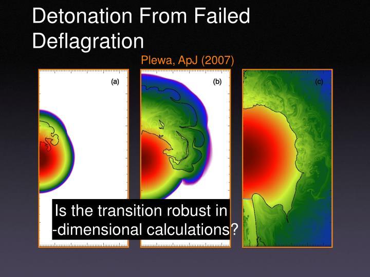 Detonation From Failed Deflagration