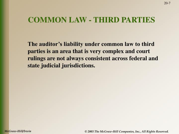 COMMON LAW - THIRD PARTIES