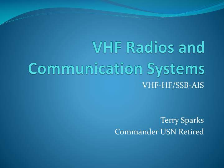 vhf radios and communication systems n.