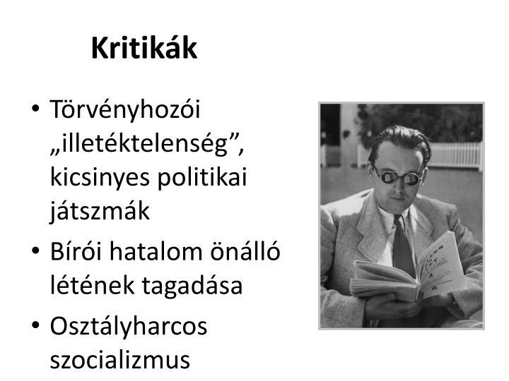 Kritikák
