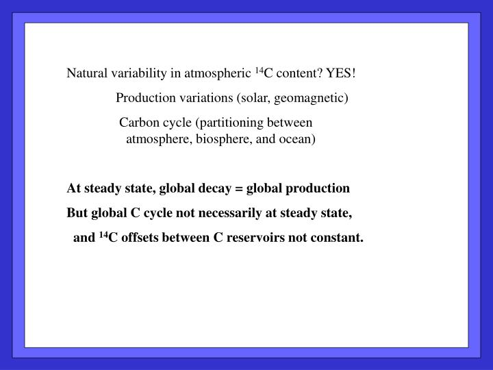 Natural variability in atmospheric