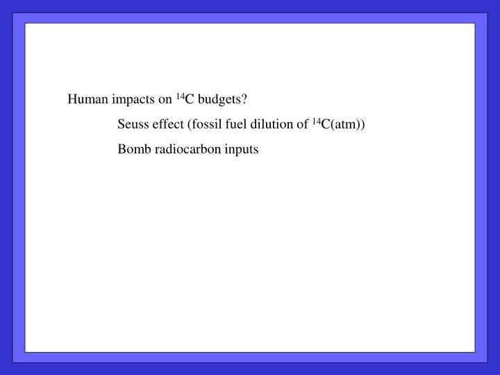 Human impacts on