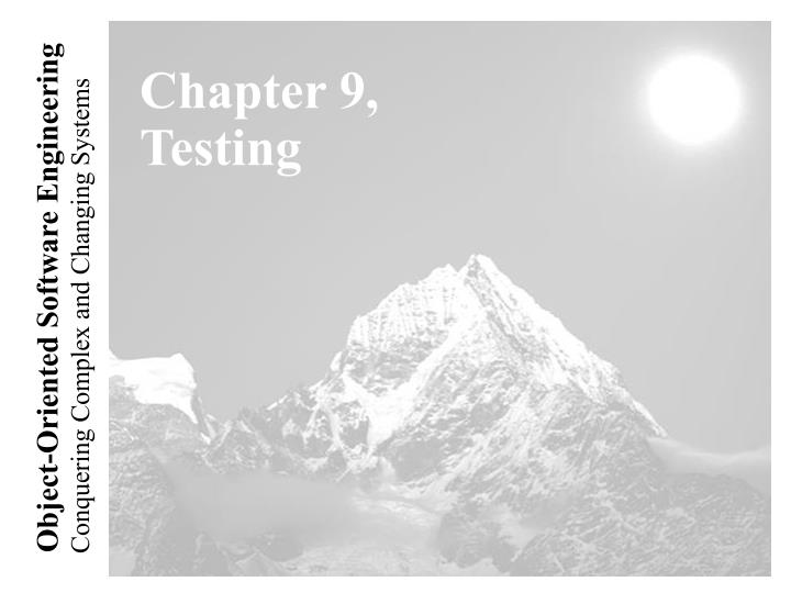 chapter 9 testing