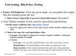 unit testing black box testing