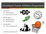cleveland cluster athletics expanded