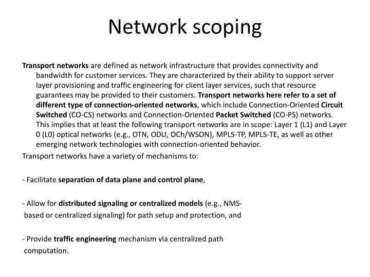 Network scoping