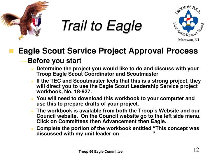 eagle scout project write up Eagle scout leadership service project checklist   make sure you include after pictures of the project site in the project write-up  eagle project checklist.