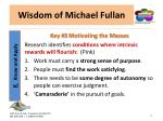 wisdom of michael fullan11