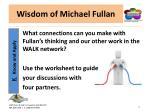 wisdom of michael fullan14