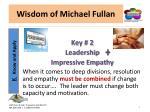 wisdom of michael fullan3