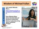 wisdom of michael fullan4