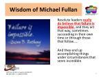 wisdom of michael fullan5