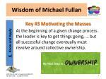 wisdom of michael fullan8