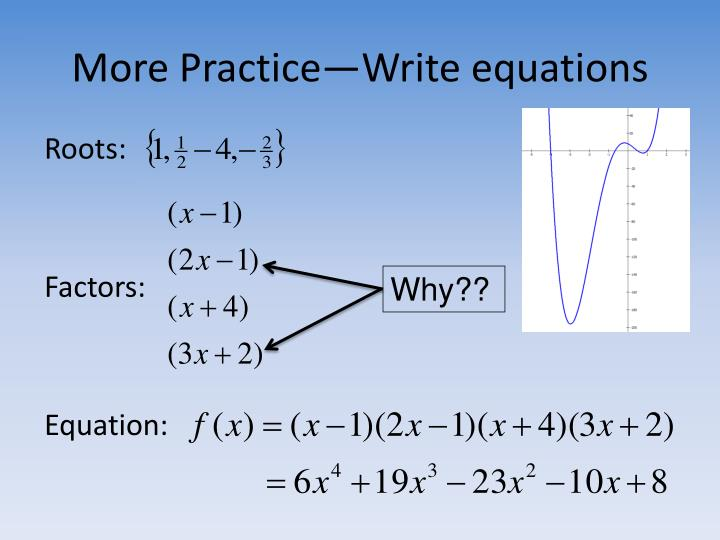 More Practice—Write equations