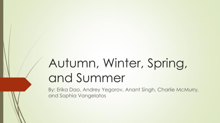 Autumn winter spring and summer